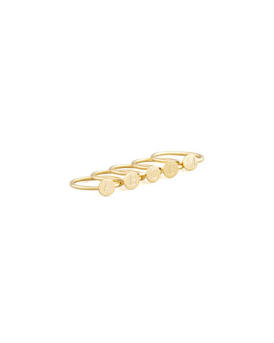 Gold Rocha Round Letter Ring