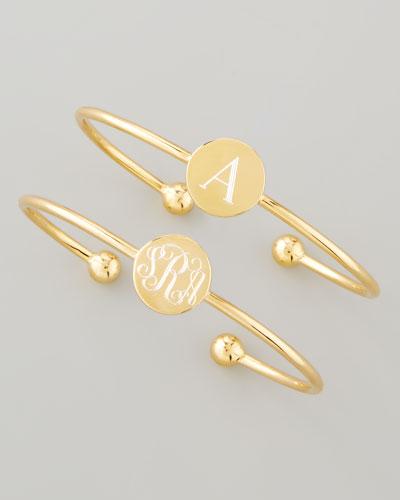 18k Yellow Gold Vermeil Ella Engravable Disc Bracelet