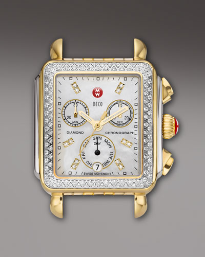 18mm Deco Diamond Watch Head, Two-Tone