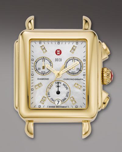 18mm Deco Gold, Diamond Dial Watch Head