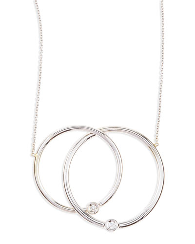 White Gold Diamond Large-Circle Necklace