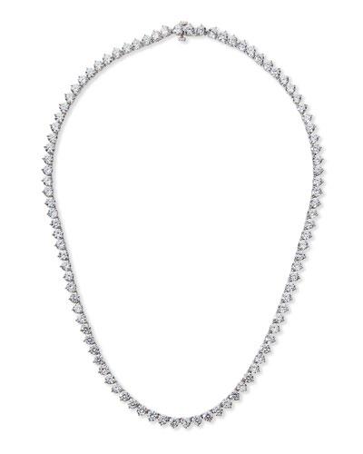 Three-Prong CZ Vermeil Tennis Necklace