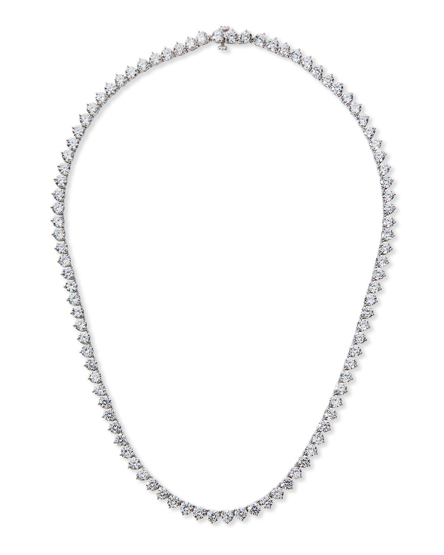 0.25 Carats Per Station Three-Prong CZ Vermeil Tennis Necklace