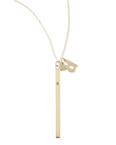 I Heart Necklace with Your Choice of 1 Letter Charm