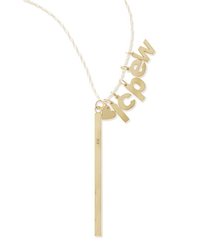 I Heart Necklace with Your Choice of 5 Letter Charms