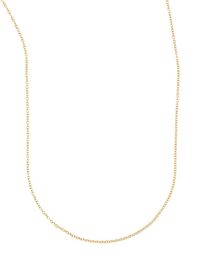 Armenta Short Gold-Station Cable-Chain Necklace, 18L