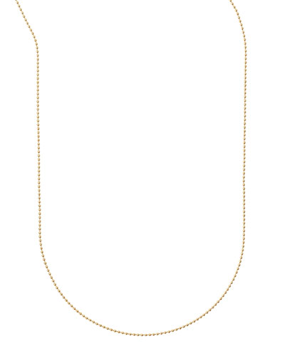 Plated Ball Chain Necklace, 36