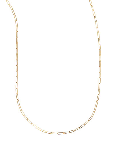 Plated Oval-Link Chain Necklace, 36