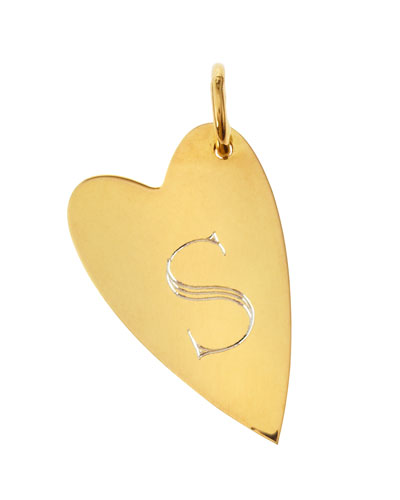 Small Jocelyn Initial Heart Charm