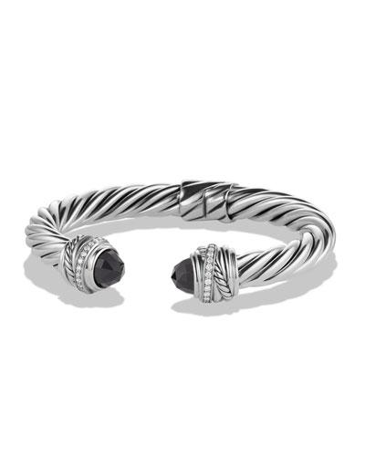 Crossover Bracelet with Black Onyx and Diamonds