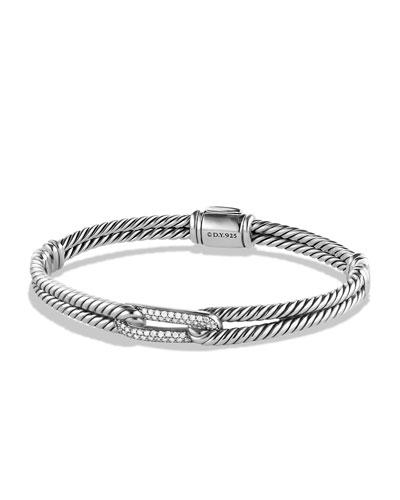 Petite Pavé Mini Single-Loop Bracelet with Diamonds