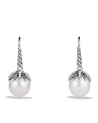 Starburst Earrings with Pearls and Diamonds