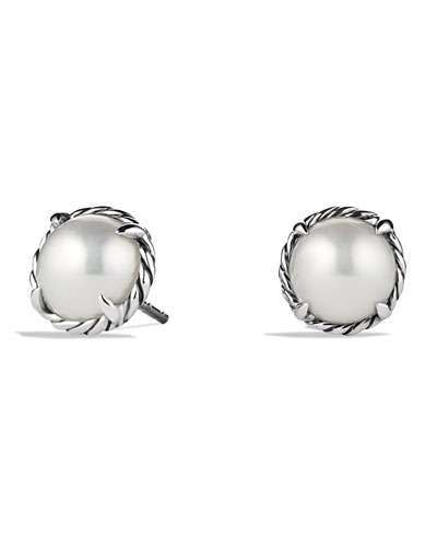 Chatelaine Earrings with Pearls