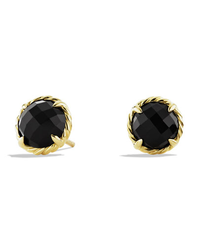 Chatelaine Earrings with Black Onyx in Gold