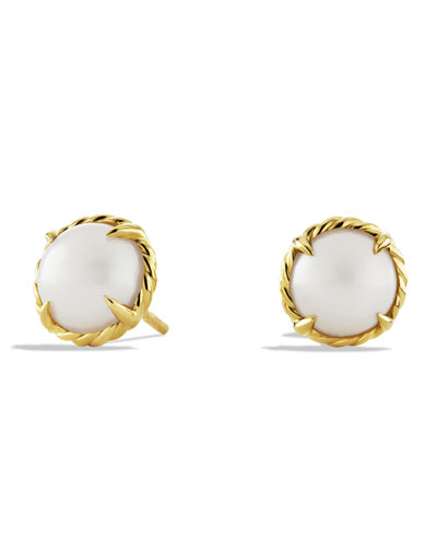 Chatelaine Earrings with Pearls in Gold