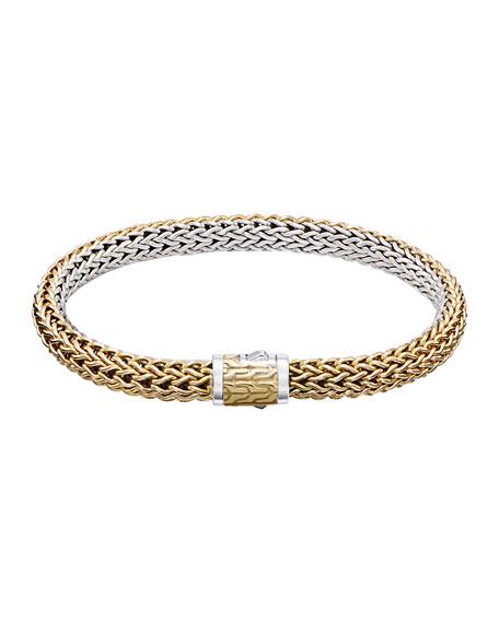 John Hardy Classic Chain Small Reversible Silver & Gold Bracelet