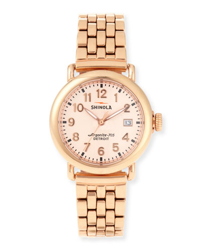 The Runwell Rose Gold Watch w/Bracelet Strap, 36mm