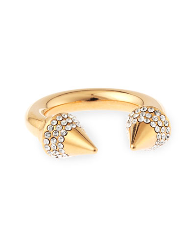 Titan Crystal Ring, Rose Golden