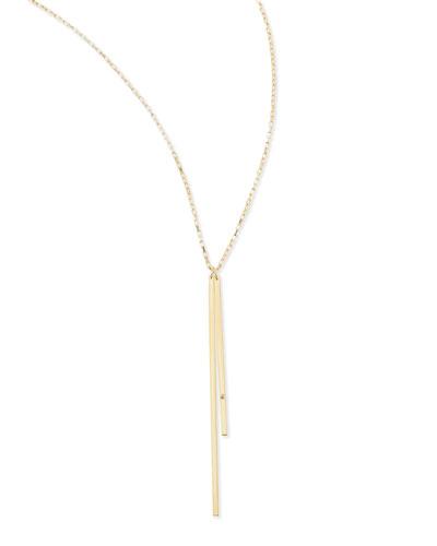 Double-Bar Pendant Necklace