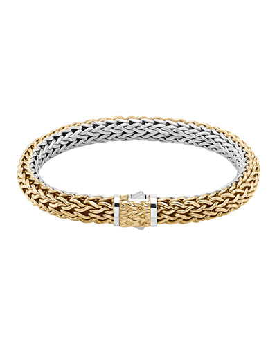 Classic Chain Medium Reversible Silver & Gold Bracelet