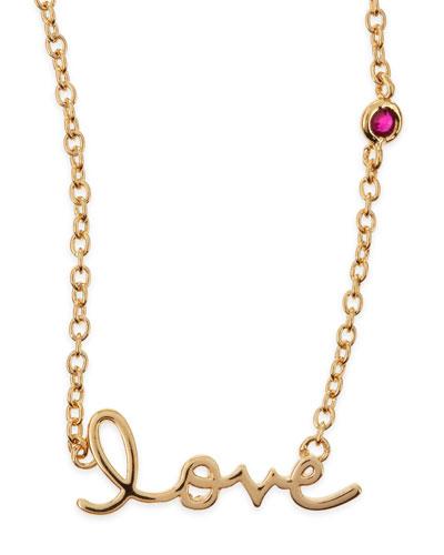 Love Bezel-Ruby Pendant Necklace