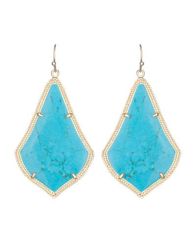 Alexandra Earrings, Turquoise