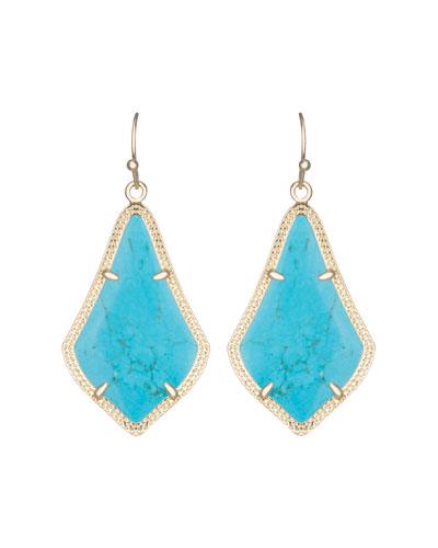 Alex Earrings, Turquoise