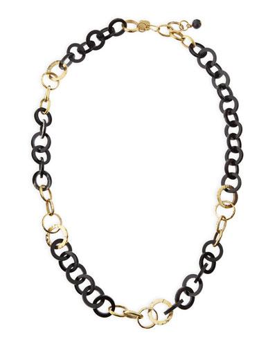 Mawani Dark Horn & Bronze Necklace