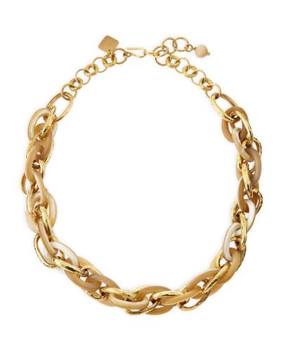 Ndovu Light Horn & Bronze Necklace