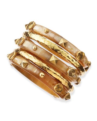 Sura Light Horn Bangles, Set of 5