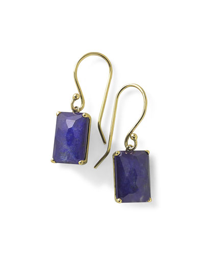 18k Gold Rock Candy Gelato Single Rectangle Drop Earrings