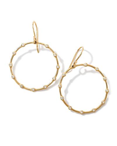 18K Gold Stardust Diamond Circle Earrings (0.16ctw)