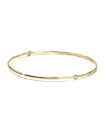 18K Gold 2 Diamond Bangle (Size 1)