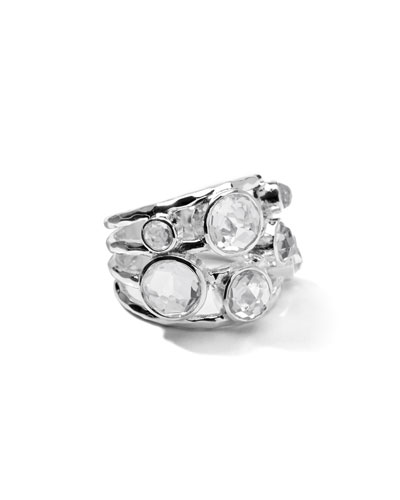 Sterling Silver Rock Candy Constellation Ring in Clear Quartz
