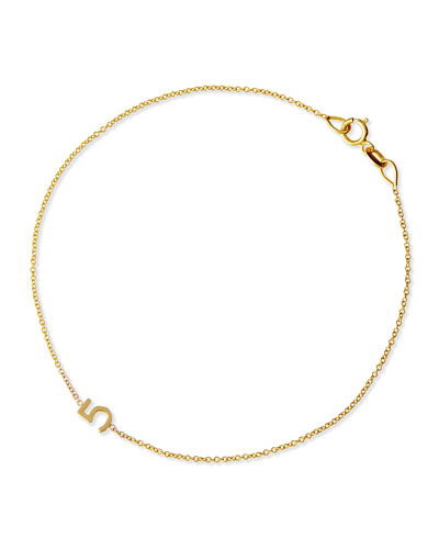 Mini Number Bracelet, Yellow Gold