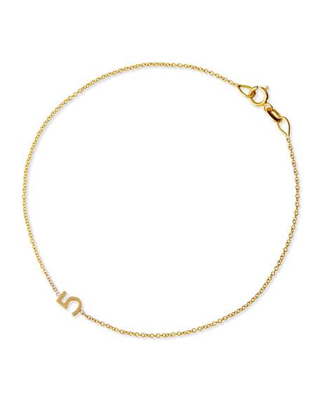 Maya Brenner Designs Mini Number Bracelet, Yellow Gold