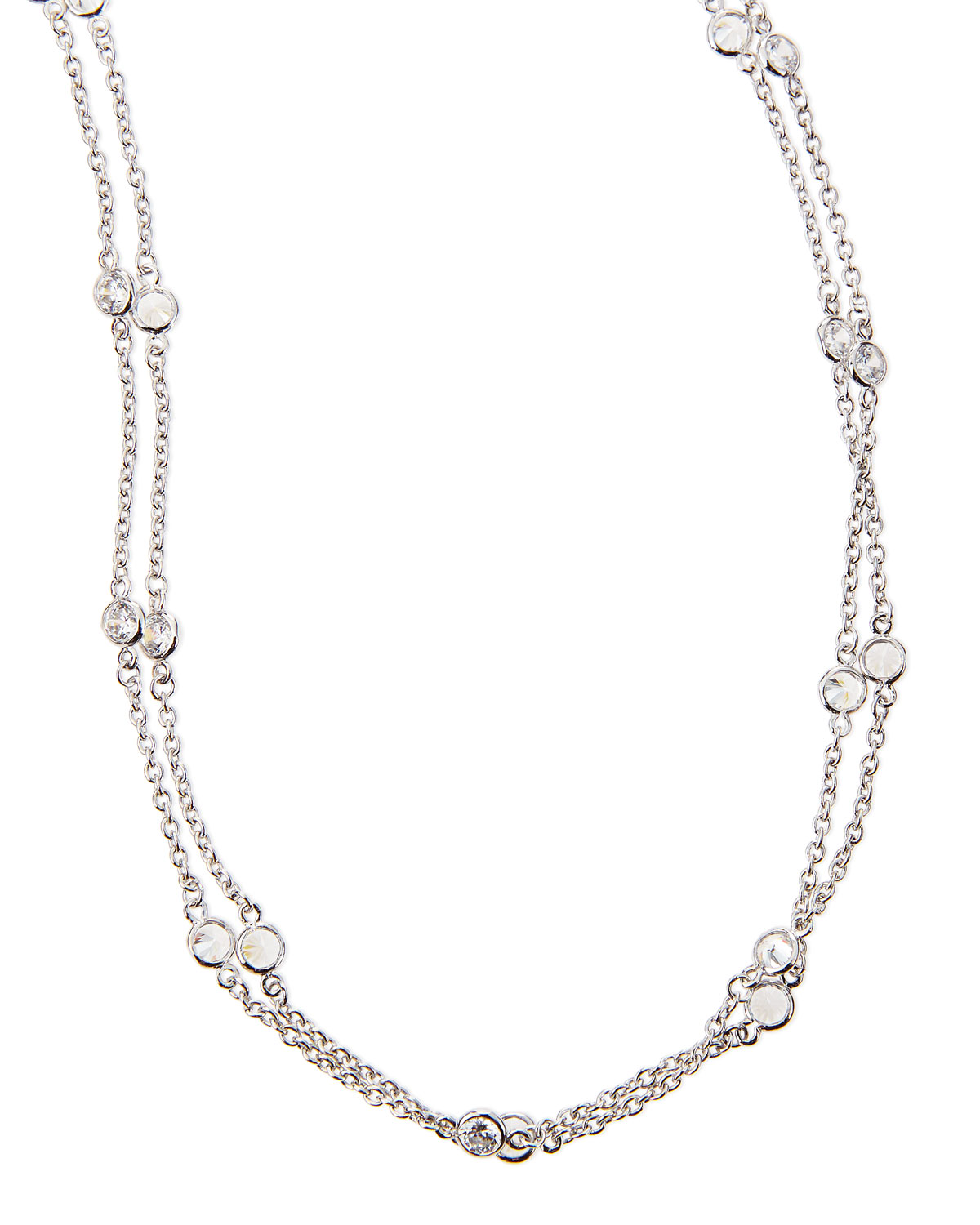 5.76 TCW Cubic Zirconia By-the-Yard Necklace
