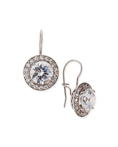 Antique-Inspired Round Cubic Zirconia Earrings