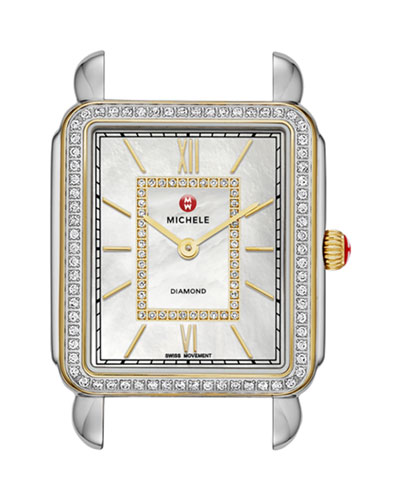 18mm Deco II Diamond Watch Head, Two-Tone