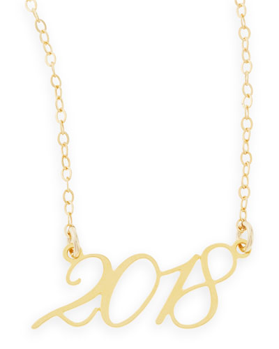 22k Gold Plated Year 2018 Necklace