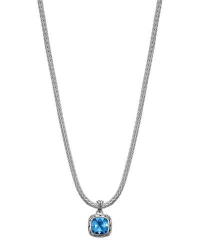 Batu Classic Chain London Blue Topaz Pendant Necklace, 16