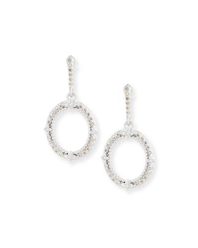 New World Champagne Diamond Oval Earrings