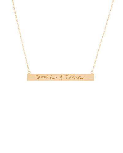 Quick Look K Kane 18k Vermeil Customizable Graffiti Bar Necklace Available In Gold