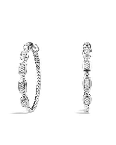 Confetti Hoop Earrings with Diamonds
