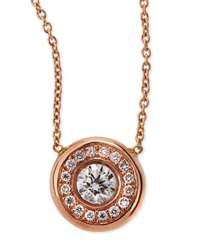 18k White Gold Pave Diamond Pendant Necklace