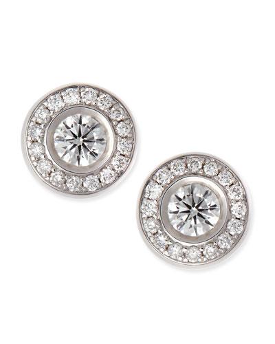 18-karat White Gold Diamond Stud Earrings