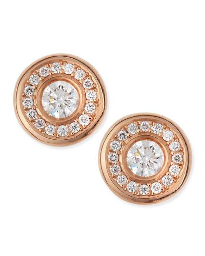 18-karat Rose Gold Diamond Stud Earrings