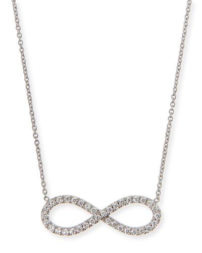 18k White Gold Diamond Infinity Necklace