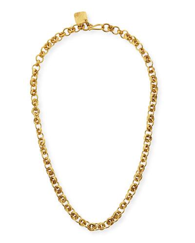Mini Chain Bronze Necklace, 21