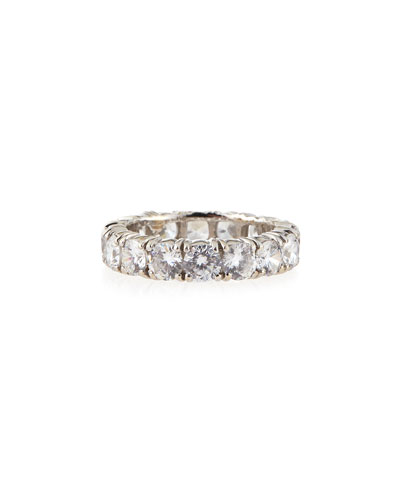 4.25mm Cubic Zirconia Eternity Band Ring
